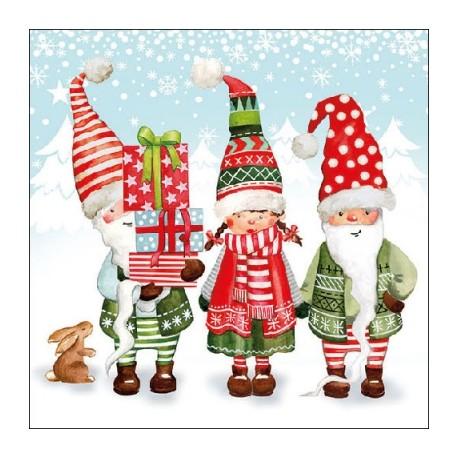 Manualidades Duendes De Navidad.Servilleta 33 33 Duendes Navidad